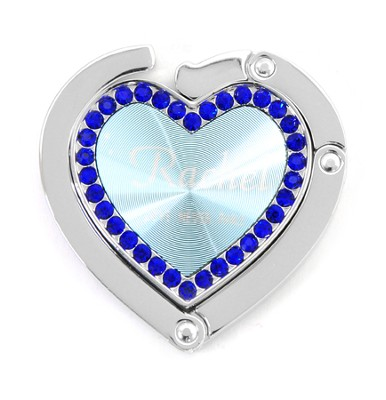 Personalized, Blue Heart Purse Holder, Love Never Fails   -