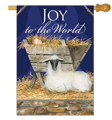 Joy to the World Flag, Large  -     By: Sandy Clough