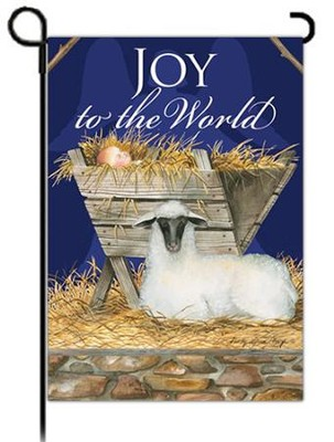 Joy to the World Flag, Small  -     By: Sandy Clough