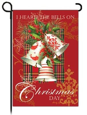 I Heard the Bells on Christmas Day Flag, Small  -