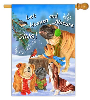 Let Heaven and Nature Sing Flag, Large  -     By: MaryLou Troutman