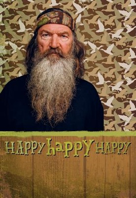 Duck Dynasty, Phil, Happy Happy Happy Birthday Cards, Pack of 6  -