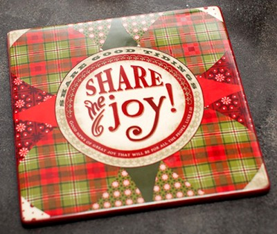 Share the Joy Christmas Trivet  -