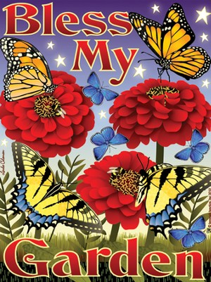Bless My Butterfly Garden Magnet  -     By: MAGNET