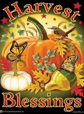 Harvest Blessings Magnet  -     By: MAGNET