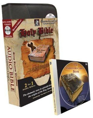 KJV Special Edition Audio Bible with Value Pack Bonus: MP3 Bible, Bible in One Hour CD, & Indestructible Book DVD  -     Narrated By: Alexander Scourby