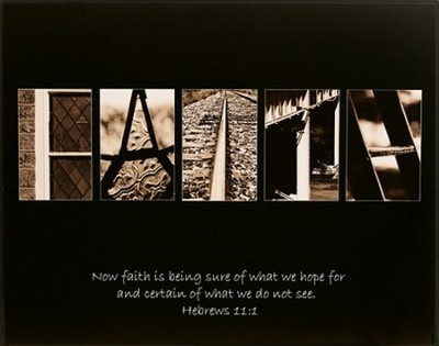 Faith, Hebrews 11:1, Alphabet Print   -