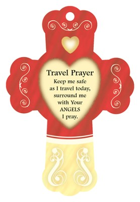 Travel Prayer, Cross Air Freshener  -