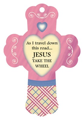 Jesus Take The Wheel, Cross Air Freshener  -