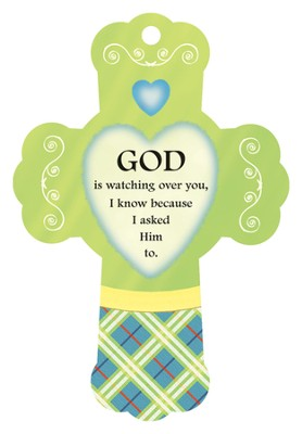 God Is Watching Over, Cross Air Freshener  -