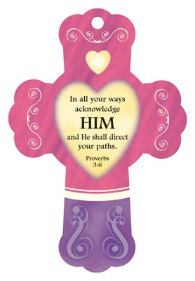 He Will Direct Your Path, Cross Air Freshener  -