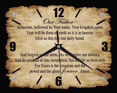 Lords Prayer Clock  -