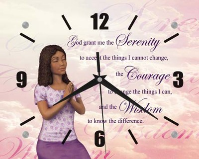 Serenity Prayer Clock  -
