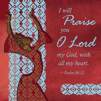 I Will Praise Plaque Red  -