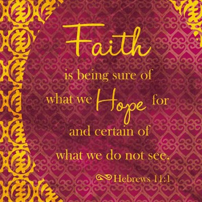 Faith and Hope Plaque  -
