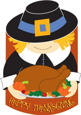 Happy Thanksgiving Pilgrim Applique Flag, Large  -