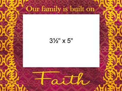 Family Faith Photo Frame  -