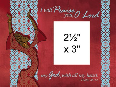 I Will Praise You Photo Frame Red  -
