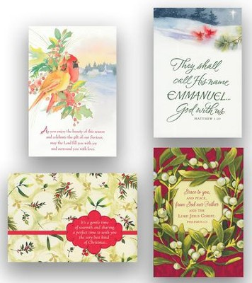 Assorted KJV Christmas Cards, Box of 24  -