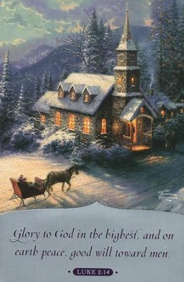 Thomas Kinkade Sunday Evening Sleigh Ride Christmas Cards, Box of 18  -     By: Thomas Kinkade