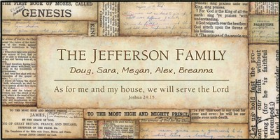 Personalized, As For Me and My House Bible Plaque         -