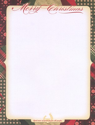 Merry Christmas Laser Stationery, Pack of 50  -