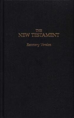 Recovery Version New Testament, Hardcover  -     By: Living Stream Ministry Staff