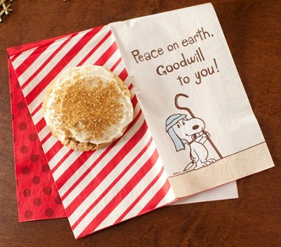 Peanuts, Peace on Earth Goodwill to You Napkins, Pack of 16  -