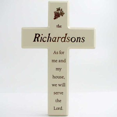 Personalized, As For Me And My House, Wall Cross          -