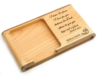 Personalized, Wooden Memo Pad Holder, Graduation   -