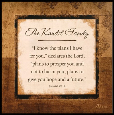 Personalized, I Know the Plans Square Plaque   -