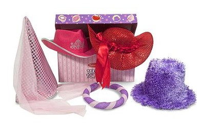 Terrific Toppers! Dress-Up Hats, Pink and Purple  -