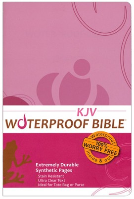 KJV Waterproof Bible, Pink/Brown Floral - Slightly Imperfect  -