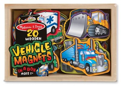Wooden Vehicle Magnets  -