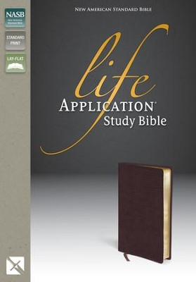 NAS Life Application Study Bible, Bonded leather, Burgundy   -