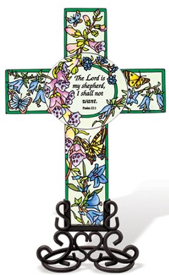 The Lord is My Shepherd Cross Suncatcher  -
