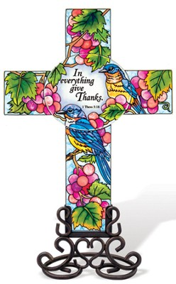 In Everything Give Thanks Cross Suncatcher  -