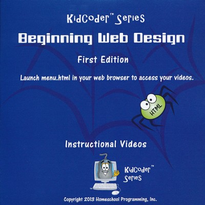 KidCoder: Beginning Web Design Supplimental DVD Instructional Video  -
