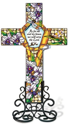 As For Me and My House, We Will Serve the Lord Cross Suncatcher  -