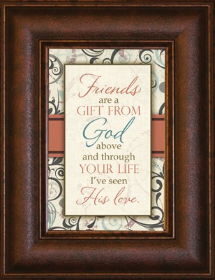 Friends are a Gift From God Mini Framed Print  -