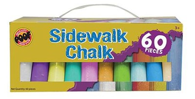 Big Draw 60 Piece Jumbo Sidewalk Chalk   -