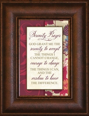 Serenity Prayer Mini Framed Print  -