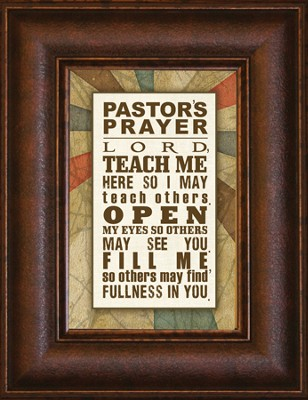 Pastor's Prayer, Mini Framed Print   -