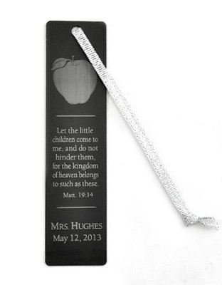 Personalized, Aluminum Bookmark, Teachers, Black   -