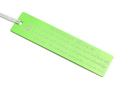 Personalized, Trust in the Lord Graduation Bookmark, Green  -