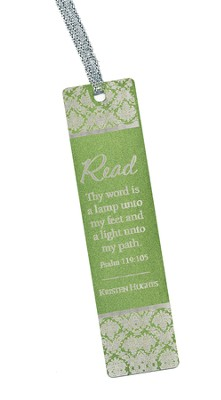 Personalized, Thy Word Aluminum Bookmark, Green   -