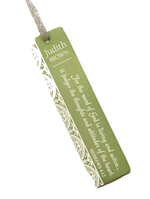 Personalized, Word of God Bookmark, Green   -