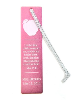 Personalized, Aluminum Bookmark, Teachers, Pink   -