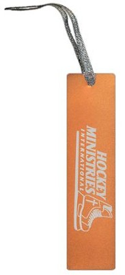 Hockey Ministries International Bookmark, Orange    -
