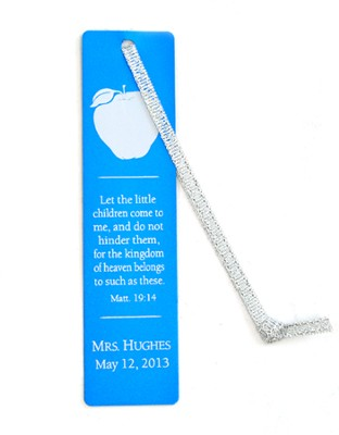 Personalized, Aluminum Bookmark, Teachers, Blue   -